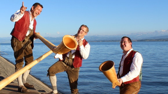 Bodensee-Alphorntrio - Volksmusik Live Act in Meersburg