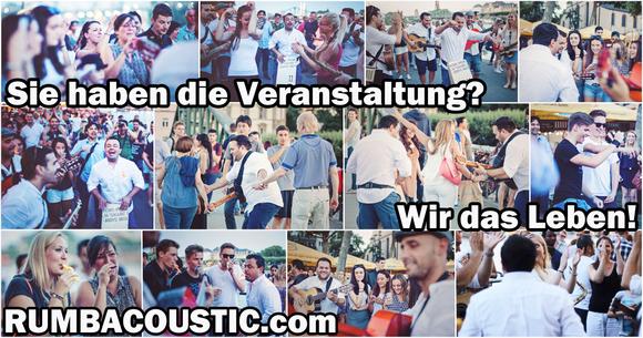 RUMBACOUSTIC - Und das Publikum spielt mit! - Latin-Fusion Soul Latin Acoustic DeutschPop Flamenco Live Act in Frankfurt
