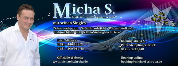 Micha S. - DeutschPop Pop Schlager Cover DeutschPop Live Act in Wesel