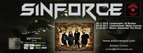 Sinforce - Heavy Metal Live Act in Leverkusen
