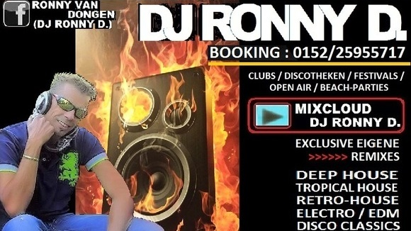 DJ Ronny D. - Mainstream Vocal House Electro Tropical Melodic House  DJ in Leipzig