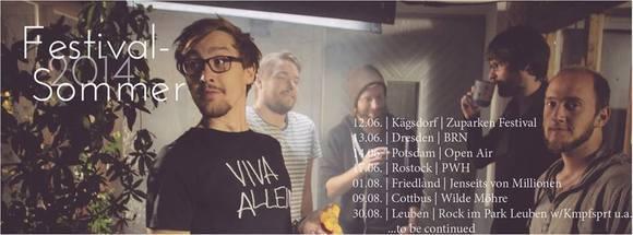 Minitimer Katzenposter - Rock Indie Live Act in Rostock