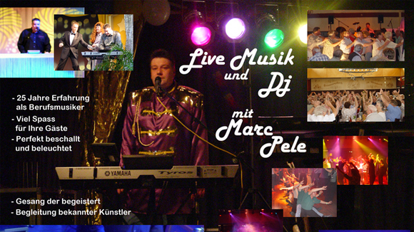 Premium Alleinunterhalter Marc Pele - Pop Schlager Rock Party Live Act in Hermeskeil