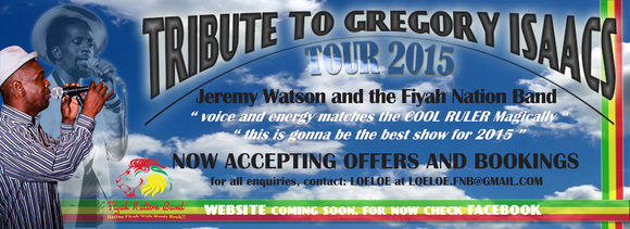 "Fiyahnationband & Jeremy Watson ""tribute to Gregory Isaacs "" - Reggae Live Act in rotterdam"